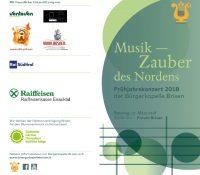 Frühjahrskonzert 2018 – MUSIK – ZAUBER DES NORDENS – 17. März 2018