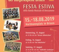 Sommerfest der Bürgerkapelle Brixen – Festa estiva della Banda Musicale di Bressanone